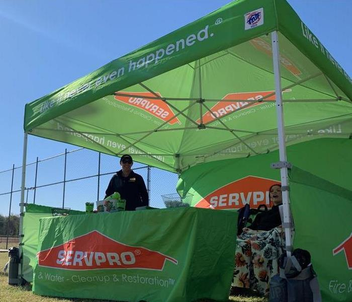 Working the Help in Crisis Softball Tournament boasting the SERVPRO Tent